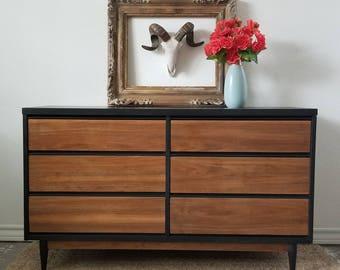 vintage mid century modern dresser local pick up only