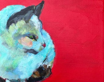SWEETIE - Every Move you Make  Cat Lover Cat Art Print 5x7