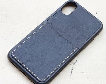Handmade leather iphone X case