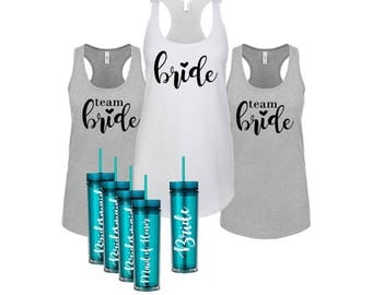 Bridesmaid Gift Set | Bridesmaid Tumbler Set | Custom Tumblers | Bridal Party Gift Set | Tumbler Set | Maid of Honor Gift