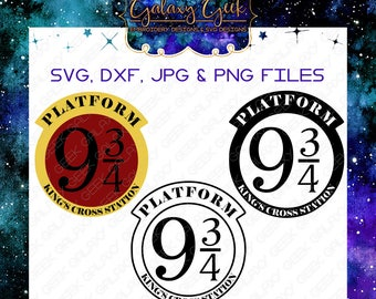 Platform 9 3/4 harry potter SVG files cutting files geek svg files for cricut silhouette cameo dxf png jpg designs marauders map svg geek