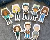 Pawnee Parks Magnetic Bookmark Set