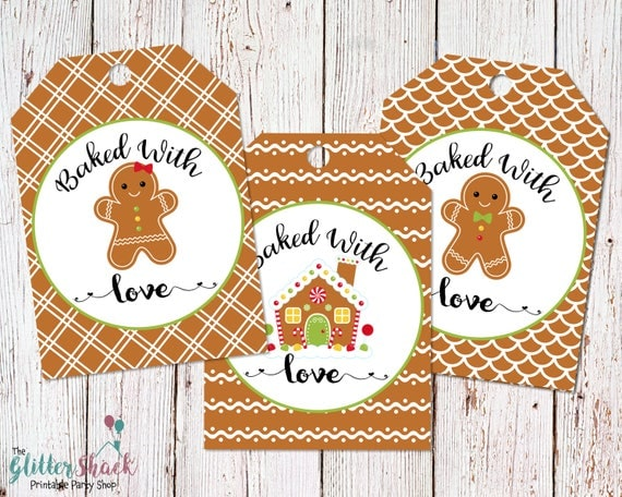 Gingerbread Cookies Baked With Love Holiday Gift Tags