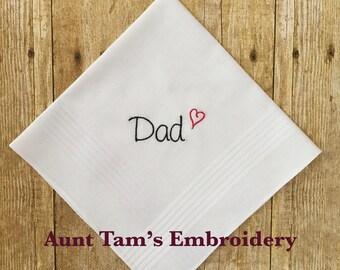 Father of The Bride Handkerchief, Dad Handkerchief, Personalize Handkerchief, Dad, Father Handkerchief, I Love You Dad