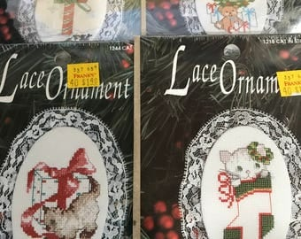 Vintage Set of 4 Designs for the Needle Lace Ornaments kit
