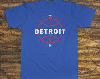 Detroit Pistons Basketball Fan T-Shirt 50/50 blend (Fan Made)