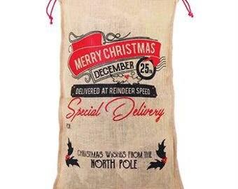 Personalised Christmas Santa Sack Xmas Stocking