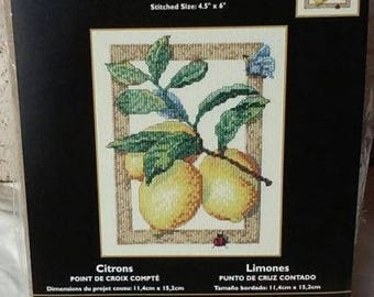 "Bucilla ""Lemons"" Counted Cross Stitch Kit"