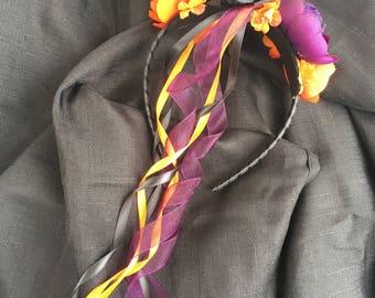 Halloween headband - floral halloween headband