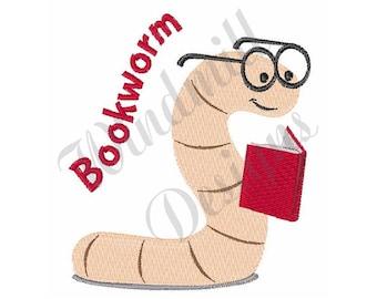 Bookworm - Machine Embroidery Design