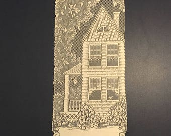 """Lace Panel """"Home"""" Wall Hanging"""