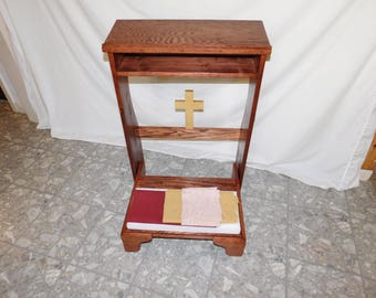 Folding prayer bench