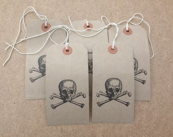 Skull and Crossbones gift tags