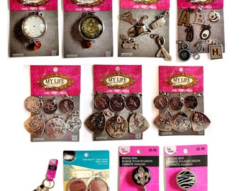 My Life One Charm At A Time by Amy Labbe Charms, Pendants, Key Chains and Bezels