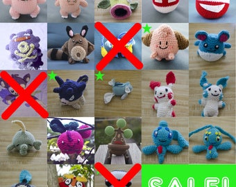 SUMMER CLEARANCE SALE Pokemon Crochet Amigurumi Dolls!