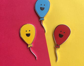 Happy Balloon enamel pin - birthday, celebration, new baby