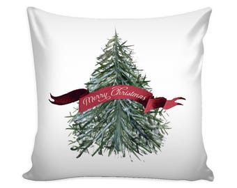 Watercolor Christmas Pillow Cover