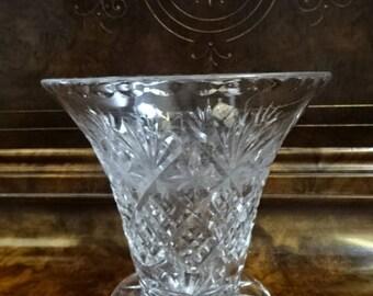 Stunning Lead Crystal Vase/Vintage