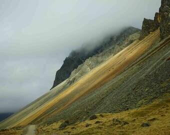 "Fine Art Iceland Landscape Photography Wall Decor 4""x6"" prints | Iceland Stokksnes Mountain Colorful"