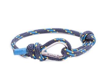 Anchor Bracelet, Mens Anchor Bracelet, Nautical Bracelet, Adjustable cord Bracelet, Mens Gift, Anchor Braclet, thimble bracelet, dark blue