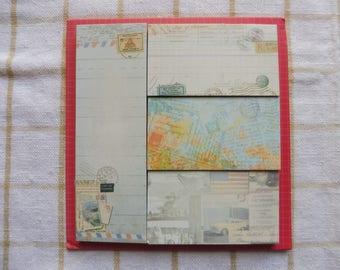 Vintage traveler's memo pad