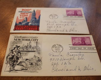 Incredibly RARE New York City 1st Day issue Enveolopes and Stamps