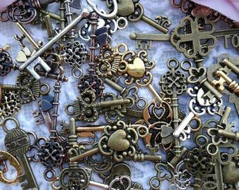 Mix small charms key(30pcs)