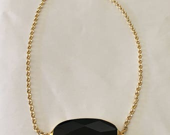 Jennifer Tuton black onyx necklace
