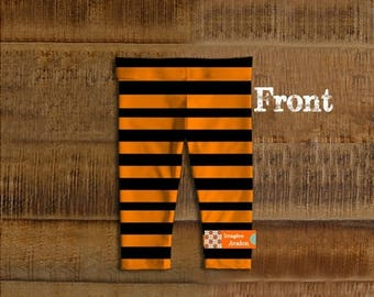 SALE -Holidays in August Baby Halloween leggings, toddler Halloween leggings, Halloween costumeKids and baby leggings