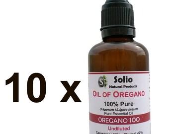 10 X 100% Pure Greek Wild Essential Oil of Oregano Oil 17 oz 500ml