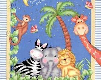 Moon baby quilt | Etsy : elephant quilt panel - Adamdwight.com