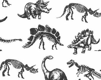 Jurassic White, Stellasaurs Collection, Dear Stella, Quilting Cotton