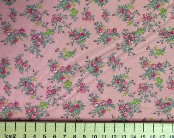 High quality cotton poplin, vintage rose print