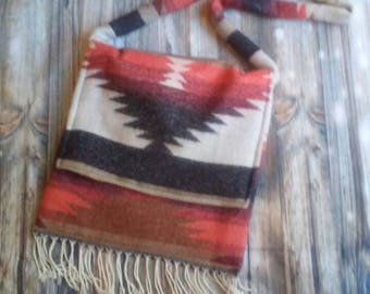 Boho shoulder bag, fringed shoulder bag, bohemian purse, boho purse, Southwestern bag, southwestern purse, fringed purse, fringed bag