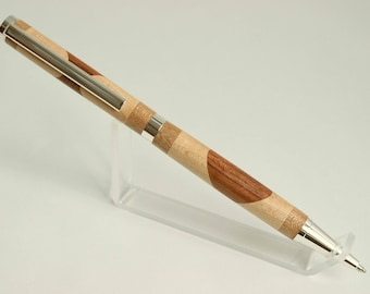Maple and bubinga slimline wood pen