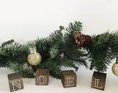 Mini Block, Block Decor, Wood Decor, Wood Art, Holiday Decor, Christmas Decor, Christmas Vignette, Farmhouse Decor, Rustic Decor, Noel