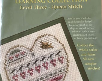 Beyond Cross Stitch/ learning collection kit/Level three/Queen Stitch/counted cross stitch kit/learn to stitch/