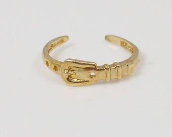 10k Yellow Gold Belt Toe Ring Size 4.25(01208)