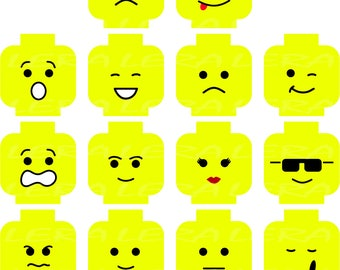 60 % OFF, Lego Svg, Lego Winky Face Svg, Lego Head Svg, Lego Faces Silhouette svg, dxf, ai, eps, png, Lego Vector Files