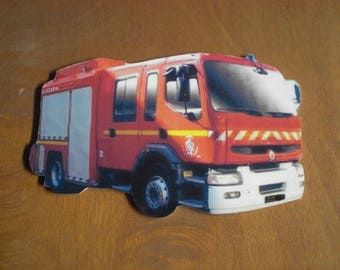 plate decorative renault PREMIUN firefighters (no enamel), custom portrait, portrait, custom gift, birthday gift