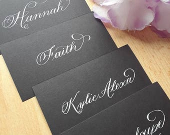 Handwritten Calligraphy on Place cards or Escort Cards Budget friendly (Fill-in Only)