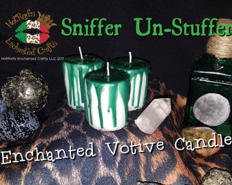 Sniffer Un-Stuffer ~ Enchanted Votive Candle