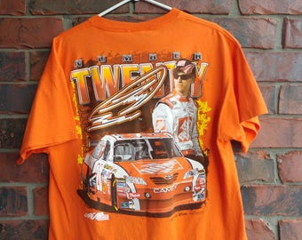 Nascar Racing T-Shirt Orange Joey Logano NASCAR All Over Print Tee