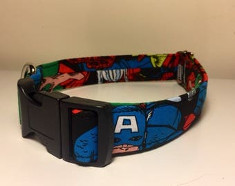 Dog Collar, Marvel Cartoon Handmade Adjustable Dog Collar
