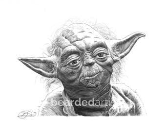 "8.5x11"" OR 11x17"" Print of Yoda from Star Wars"