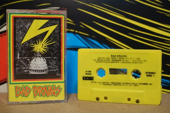 Bad Brains (RARE Yellow Pressing) by Bad Brains Vintage Cassette Tape