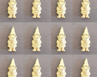 12 x Goldrn Gnomes Cupcake toppers, Gnomes, Garden Gnome Cake Toppers, Gnome Cake decorations