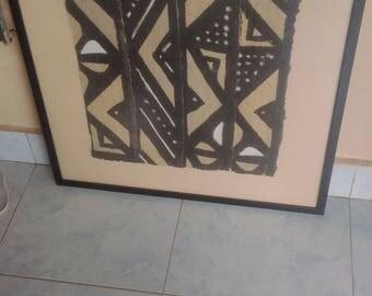 Framed Mud cloth