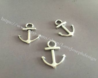 40 Pieces /Lot  19mmx15mm Nautical Small Anchor Charms (#005)