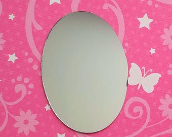72mm blank mirror unframed embellish decoden add to kawaii phone case cabochon jewelry scrapbook hair accessories home decorate phone decor